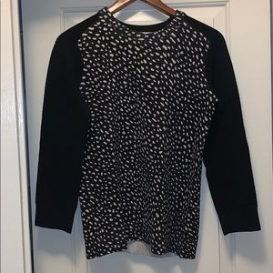 Tory Burch Black and White Wool Sweater
